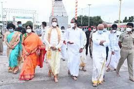 सुप्रीम कोर्ट के मुख्य न्यायाधीश न्यायमूर्ति एन वेंकट रमन्ना का तिरुपति दौरा